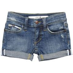 Joe's Jeans Kids Girls' Cuffed Mini Short in Elizabeth (Toddler/Little... ❤ liked on Polyvore featuring shorts, baby clothes, kids, baby stuff and bottoms