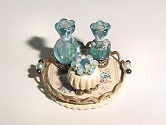 Dollhouse Miniature Vanity Tray and by MiniTreasuresByTerre, $26.00