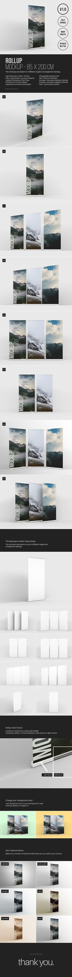 Free Roll-up Mockup on Behance