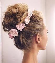 Αποτέλεσμα εικόνας για hair do up flowers