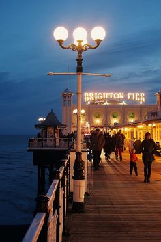 Brighton Pier (the owners changed the sign from Palace Pier in 2000, an informal name change not recognised by the National Piers Society or many Brightonians). The full name of the pier is 'Brighton Marine and Palace Pier'