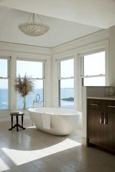love the stand alone tub and windows
