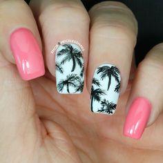 Pretty palm tree mani! ✨