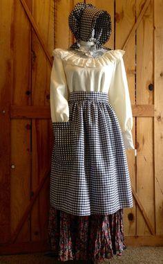 fa96f9c58f1 Women s Pioneer costume  skirt bonnet and apron by CuteMormonStuff Pioneer  Costume
