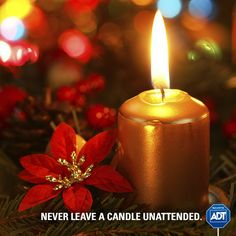 #StaySafe and smart about #FireSafety this #Holiday season! Never leave an open fire unattended. #ADT #AlwaysThere #HappyHolidays