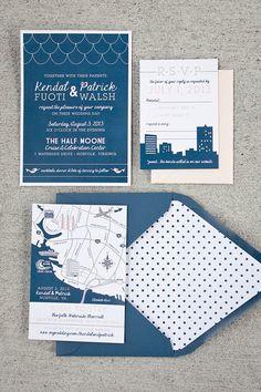 Norfolk Gone Nautical Wedding paper goodies!   The Girl Tyler