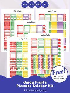 Planner Sticker Categories – Printables by Design Erin Condren Life Planner, Monthly Planner, Free Planner Pages, Happy Planner, Printable Planner Stickers, Free Printables, Planning And Organizing, Sticker Paper, Planners