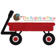 Wagon Machine Embroidery Applique Design by TheAppliquePlace, $4.00