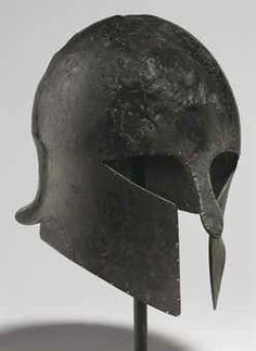 I chose this image to represent the Archaic period because it shows what warriors would have worn at the time. It also illustrates the fact that the Greeks participated in war during the Archaic period. Greek Artifacts, Historical Artifacts, Ancient Artifacts, Helmet Armor, Arm Armor, Greek History, Ancient History, Medieval Armor, Ancient Armor