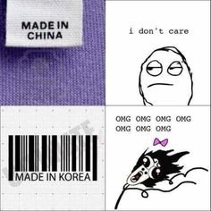 So me even tho I'm half Chinese - Koreans have good quality shiz, I can testify to that XD