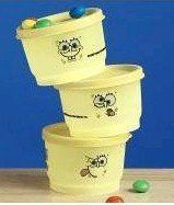 Tupperware SpongeBob SquarePants Funny Faces Snack Cup Set by Tupperware. $38.99. Compact size slips easily into a lunch box or backpack. Perfect for providing kids with nutritional snacks throughout the day. Decorative artwork featuring the many faces of SpongeBob SquarePants. Virtually liquid-tight seals offer superior storage and make transporting a variety of foods safe and secure. 4-oz. capacity each and dishwasher-safe. New! SpongeBob SquarePants Funny Faces Snack Cup Set...