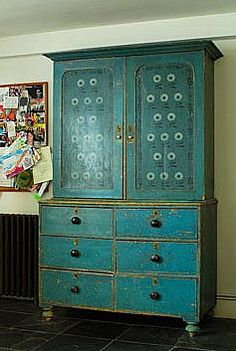 teal, wonderful distressed areas - authentic