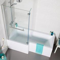 Douchebad combinatie van douchen en baden in één. Eenvoudige plaatsing past in elke ruimte.