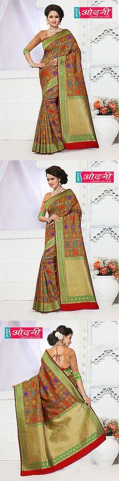 Sari Saree 155250: Indian Bollywood Multicolor Banarasi Silk Party Wear Zari Worked Designer Saree -> BUY IT NOW ONLY: $81.95 on eBay!
