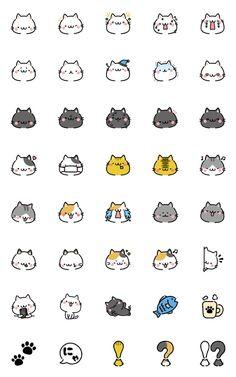 Emoji cats – LINE Emoji   LINE STORE