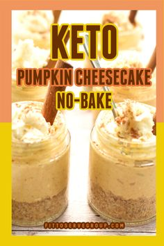 Low Carb Sweets, Low Carb Desserts, Low Carb Recipes, Dessert Recipes, No Bake Pumpkin Cheesecake, Keto Cheesecake, Ketogenic Desserts, Keto Snacks, Keto Foods