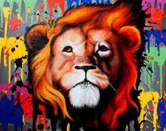 colorful lion art - Google Search