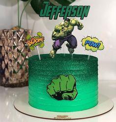Modern Birthday Cakes, Hulk Birthday Cakes, Boy Birthday, Fruit Cake Watermelon, Hulk Cakes, Cakes For Boys, Cake Toppers, Chocolate, Baking