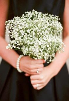 Babys Breath bridesmaid bouquet (Photo by jHenderson Studios)