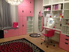 Stuva storage and micke desk for playroom or MM's room