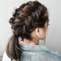 45 elegant ponytail hairstyles for special occasions - StayGlam hairstyle . - 45 elegant ponytail hairstyles for special occasions – StayGlam hairstyle …, # occasions - French Braid Short Hair, Braids For Short Hair, French Braids, Short Ponytail Hairstyles, Newest Hairstyles, Bridal Hairstyles, Short Haircuts, Hairstyles Haircuts, Teenage Hairstyles