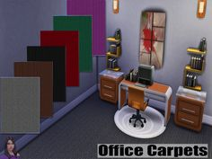 SIMSCREATIONS13's Office Carpets.