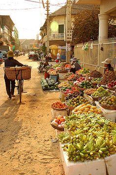 Street Market . Cambodia