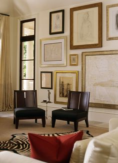 Large frame gallery wall