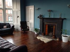 Farrow and Ball - Stone Blue - Strong White