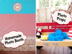 LOVE this idea!  Ours will have to be an indoor setup (his birthday is still in the cold months).  Plus maybe we'll just have to get him a wagon as a gift/photo prop.  :)