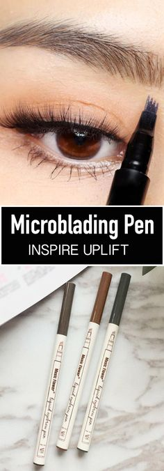 Wasserdichter Microblading-Stift - ★★★★★ - ❤️ New & Interesting Finds - Frisuren Beauty Make Up, Beauty Care, Hair Beauty, Beauty Secrets, Beauty Hacks, Beauty Tips, Beauty Products, Makeup Products, Sally Hansen