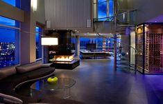 Condo Living Room, Living Room Interior, Apartment Interior, Apartment View, Penthouse Apartment, Dream Apartment, Apartment Design, Living Area, Living Rooms