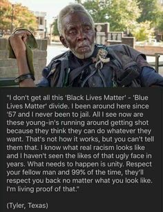 Wisdom and truth from someone that has lived through real oppression. #alllivesmatter #truth #unitedwestand
