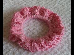 Diy - Acessório para cabelo Nº 1 - Em crochê com elástico - Graça Tristão - YouTube