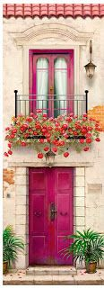10 more pins for your paper – decoupage board - Art Painting The Doors, Windows And Doors, Plant Texture, Garden Architecture, Doorway, Entrance, Beautiful Places, Wallpaper, Drawings