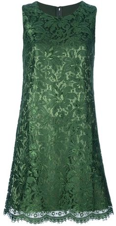 Dolce & Gabbana  Sleeveless Lace Dress Love this color!