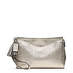 LEGACY METALLIC LEATHER LARGE WRISTLET - I may have to get this for the next wedding I am in.