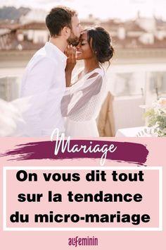 Vous ne rêvez pas d'un grand mariage ? Ça tombe bien, la tendance est au micro-mariage ! Avec la situation sanitaire actuelle, les futurs mariés privilégient désormais les célébrations en petit comité. #mariage #micromariage #wedding #tendance #aufeminin Marie, Wedding Bride, Organization
