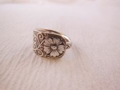 Daisy Spoon Ring by WoodsEdgeJewelry on Etsy
