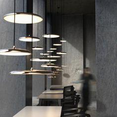 Dezente LED Pendelleuchte Artist 40 in kupfer, dimmbar
