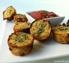 Cauliflower Pizza Bites Recipe... #healthy #cleaneating