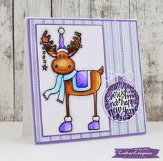 Wintry Watercolor Moose Card