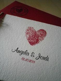 My own wedding invitation :)  @Angela Fermin  #fingerprint #invitation #wedding  FINGERPRINT HEART!