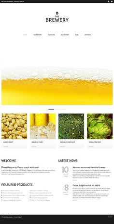 'Brewery Company' #webdesign for WordPress 3.x Template 44043 http://www.zign.nl/44043