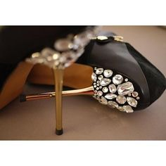 diy jeweled shoes