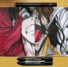 """""""If you win, you live. If you lose, you die. And If you don't fight, you can't win! - Eren attack on titan sketch colored design digital drawing pencil pen Naruto Drawings, Naruto Art, Cool Drawings, Anime Character Drawing, Manga Drawing, Drawing Sketches, Anime Demon, Manga Anime, Attack On Titan Eren"""