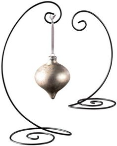 Spiral Ornament Display Stand - Black,large: 13 height 10 hanging height holds ornaments up to Kitchen Ornaments, Dog Christmas Ornaments, Disney Ornaments, Wood Ornaments, Ornament Crafts, Christmas Decorations, Metal Lanterns, Candle Stand, Plates And Bowls