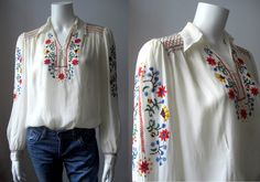 1920s blouse/ Vintage hand embroidered by StardustVintagestore, £130.00