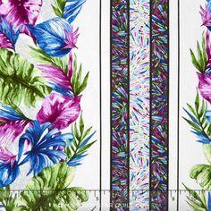 Butterfly Forest - Butterfly Stripe White/Multi Yardage