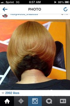 Two toned bob great cut and color